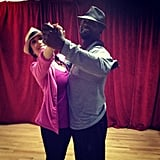 Cheryl Burke got in some practice with partner Emmitt Smith before Dancing With the Stars. Source: Instagram user cherylburke