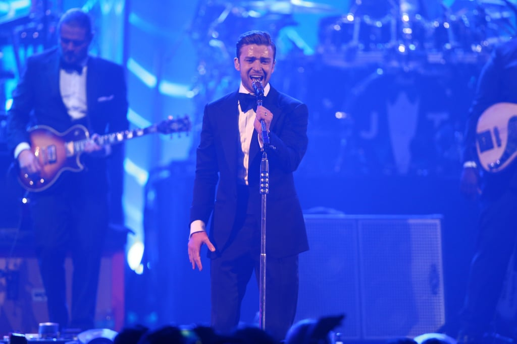 """Justin Timberlake delivered a live performance of """"Suit & Tie"""" on Saturday night during Super Bowl weekend 2013."""