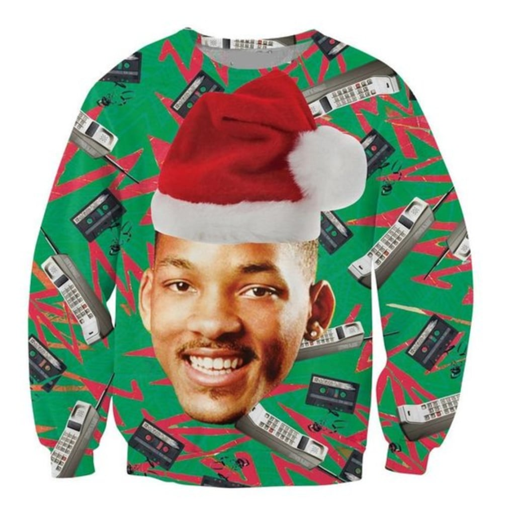 fresh prince of bel air cell phone ugly christmas sweater - Unique Christmas Sweaters
