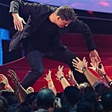 Channing Tatum high fived the crowd before accepting his trailblazer award.