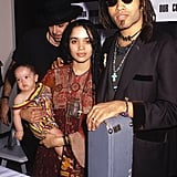 Zoë Kravitz With Lisa Bonet and Lenny Kravitz in 1989
