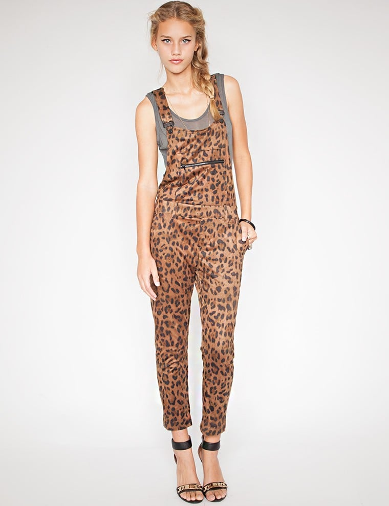 Pixie Market leopard suede overalls ($219)
