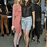 Lydia Hearst and MTV's Susie Castillo smile for the cameras.