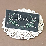 Bridal Seating Sign