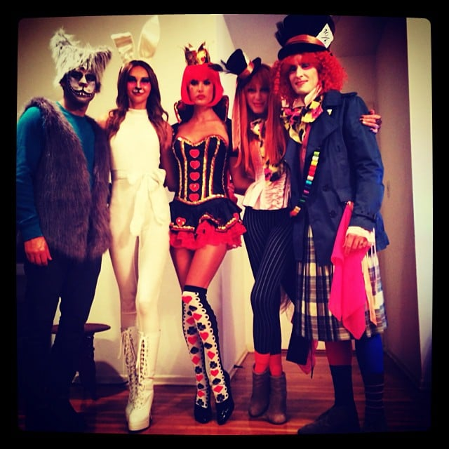 Alessandra Ambrosio dressed up as the Queen of Hearts, channeling Alice in Wonderland with her friends. Source: Instagram user alessandraambrosio
