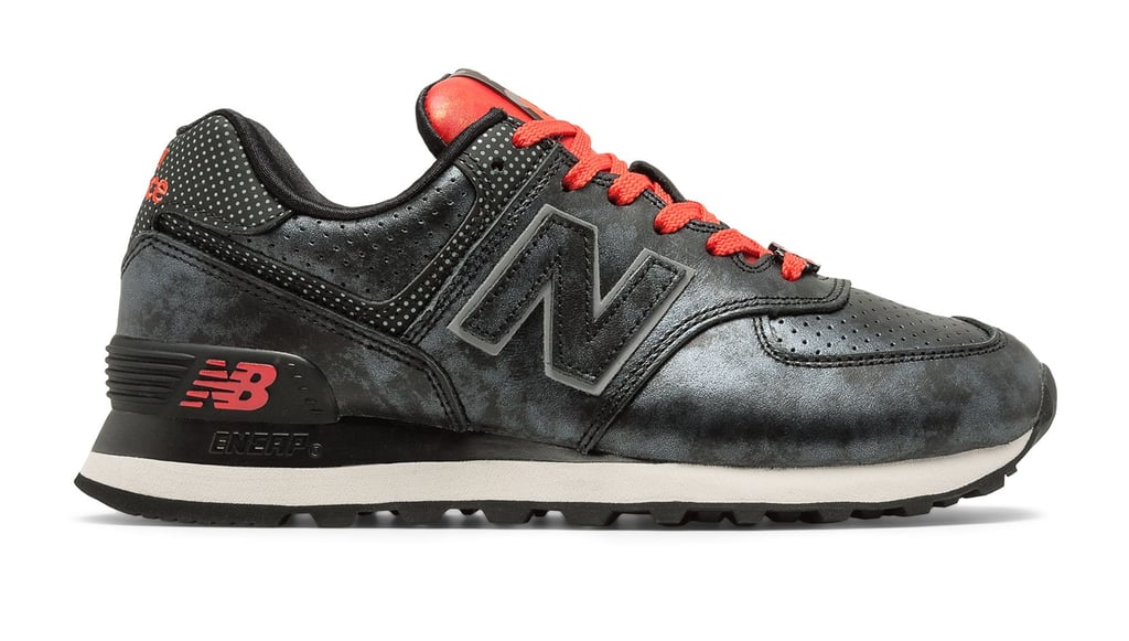 new balance 574 black and red