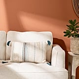 Blue Emilia Lumbar Pillow