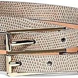 Brooks Brothers Lizard Embossed Calfskin Double Belt