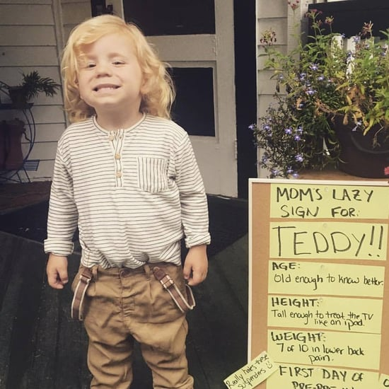 Mum's Lazy First-Day-of-School Sign For Son