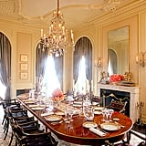 This traditional dining room feels grand enough to host heads of state.