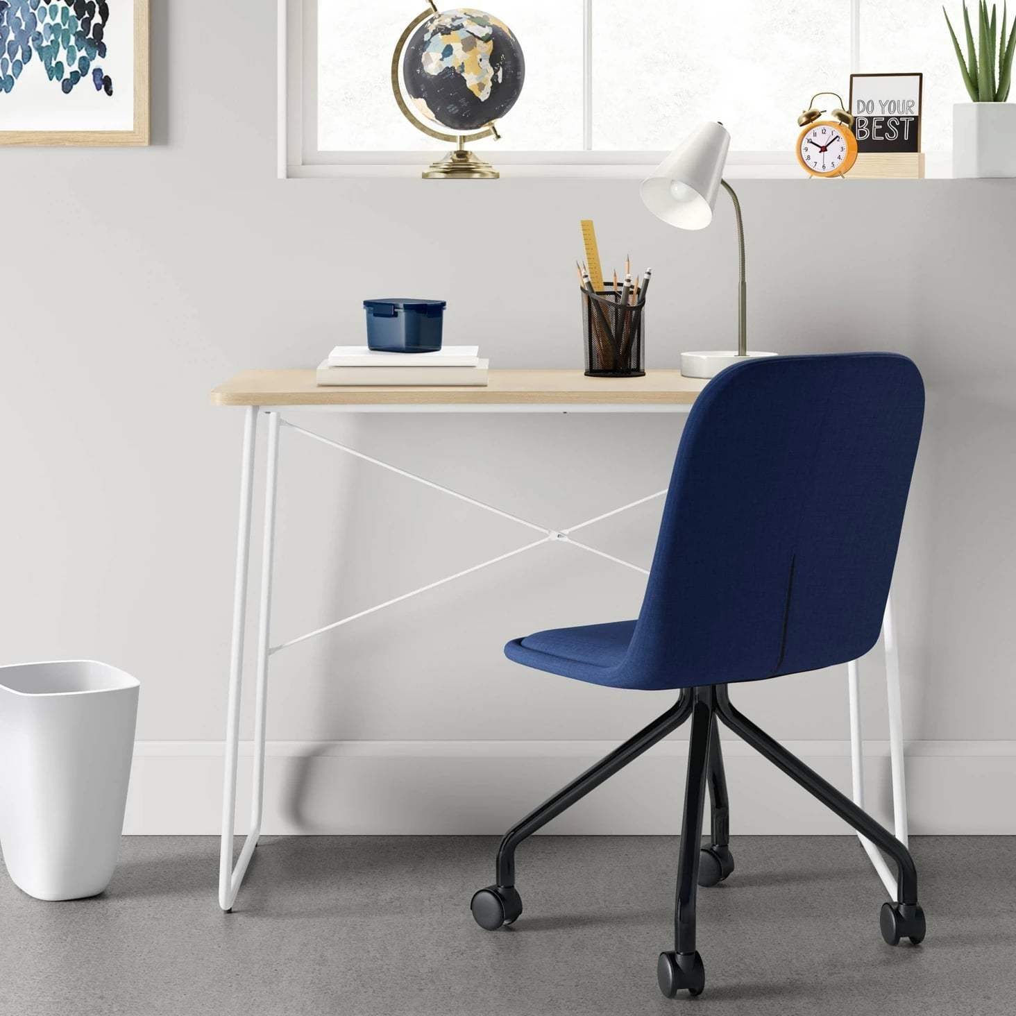 Upholstered Rolling Desk Chair Prepare Your College Checklist 50 Affordable Dorm Furniture Pieces To Buy From Target Asap Popsugar Home Photo 47