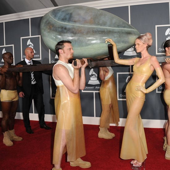 Pictures of Lady Gaga in Egg Womb at 2011 Grammy Awards 2011-02-13 16:20:08