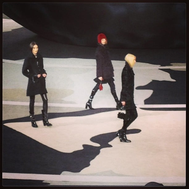 Good things come in threes — at Chanel Fall 2013.