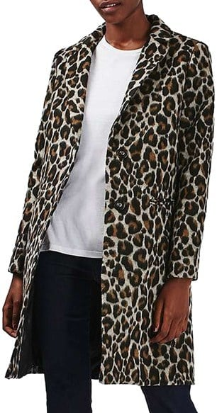 Topshop Leopard Print Car Coat ($160)