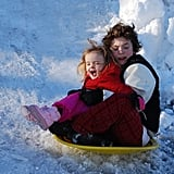 """""""During the 2010 blizzard. I love how this photo shows how protective he is of his little sister."""""""