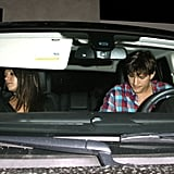Ashton Kutcher and Mila Kunis drove home.