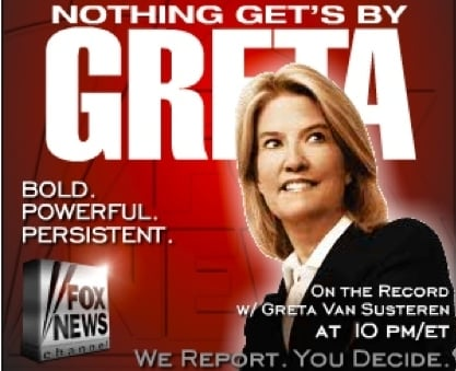 Fox News Greta Van Susteren's Nothing Gets by Her Typo Ad