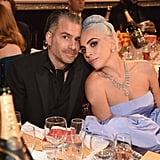 Pictured: Christian Carino and Lady Gaga