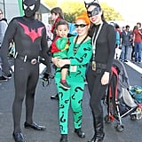 Batman, Robin, The Riddler, and Catwoman
