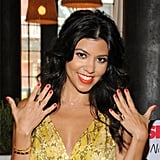 Kourtney Wearing Kourt Is Red-y For a Pedi
