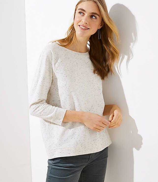 Flecked Raglan Sweatshirt