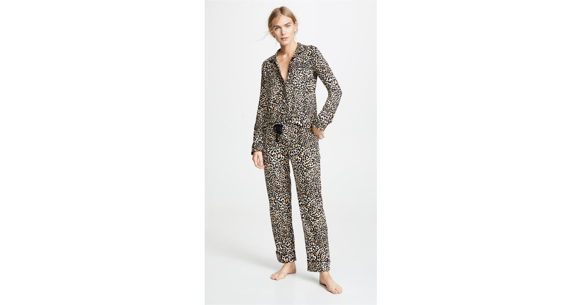 97555725e18 PJ Salvage Give Love Cheetah Printed PJ Set