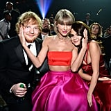 Pictured: Taylor Swift, Selena Gomez, and Ed Sheeran