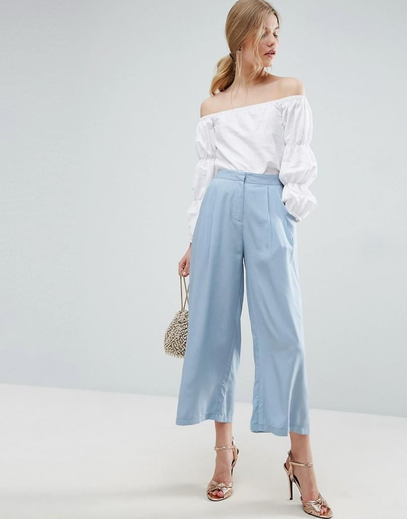 Wear with sneakers, heels, or mules these pleated woven Asos culottes ($43) goes with every outfit.