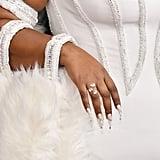 Lizzo's White Crystal Nail Art