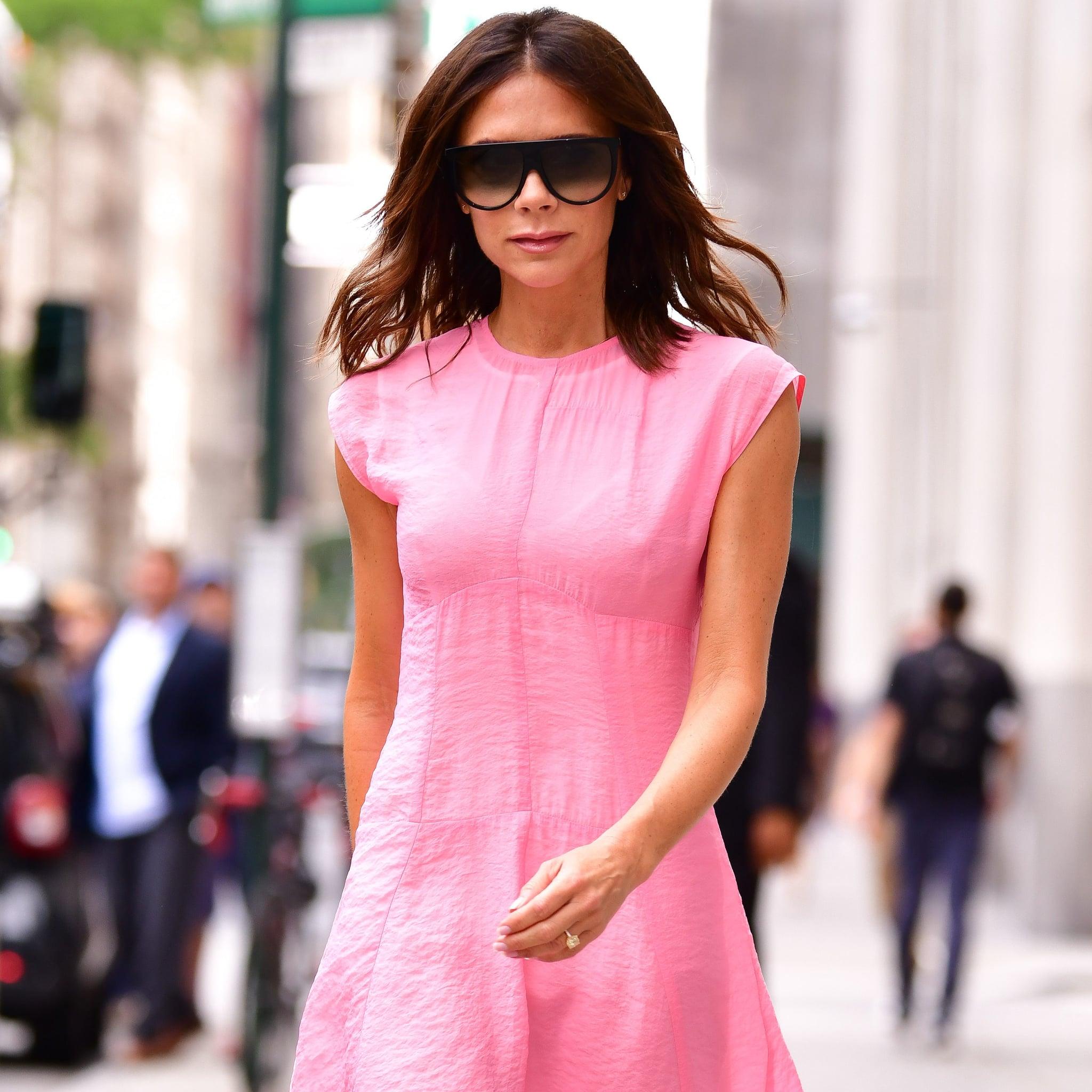 Victoria Beckham Pink Dress in NYC 2018 | POPSUGAR Fashion UK