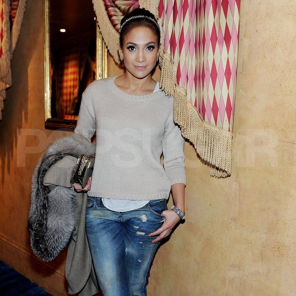 Jennifer Lopez looked pretty in Las Vegas,