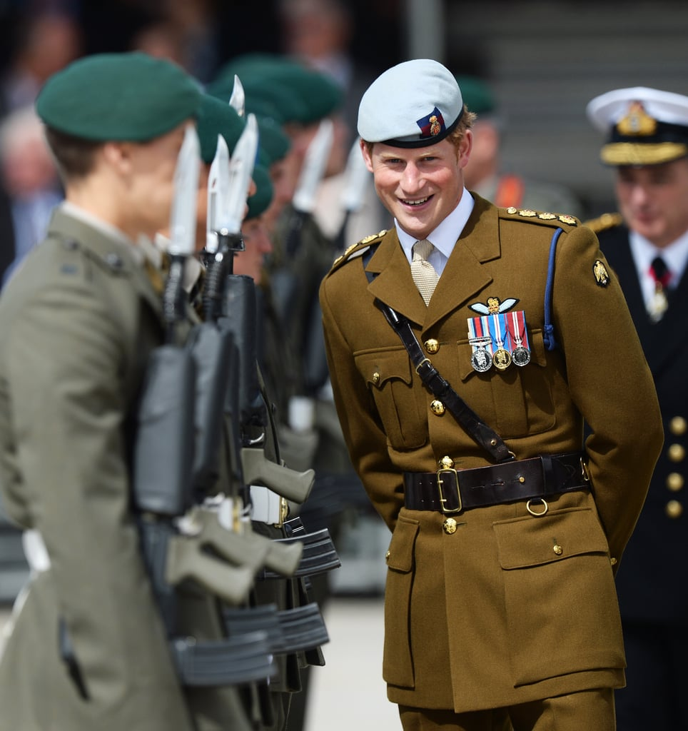 Prince Harry In Military Uniform, Talks About Royal Baby