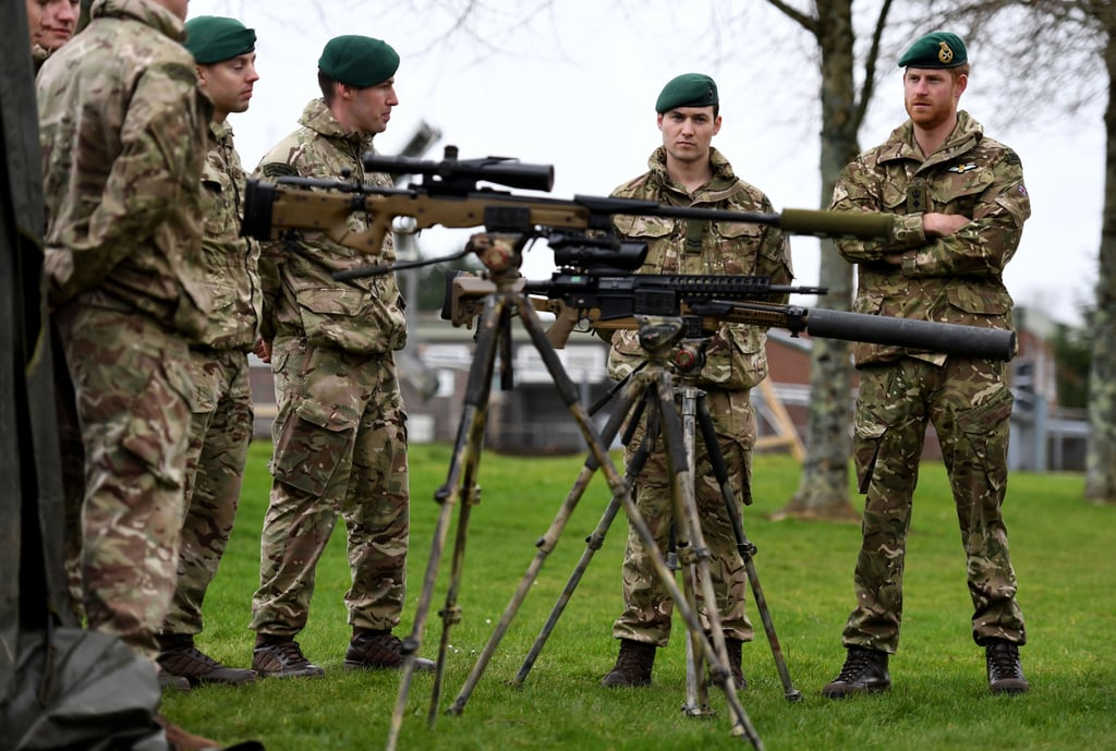Prince Harry in Uniform at Green Beret Presentation 2019