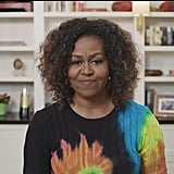 Michelle Obama's Tie-Dye Sweater in PBS Kids Book Reading