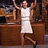 Millie Bobby Brown at the The Tonight Show Starring Jimmy Fallon in 2016