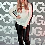 Ellie Goulding arrived at the PopSugar studios for her live performance.