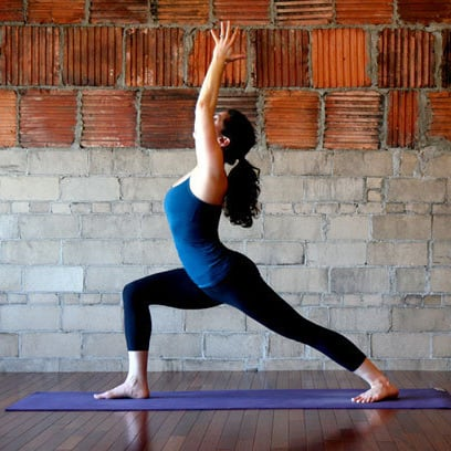 tips for warrior 1 yoga pose  popsugar fitness