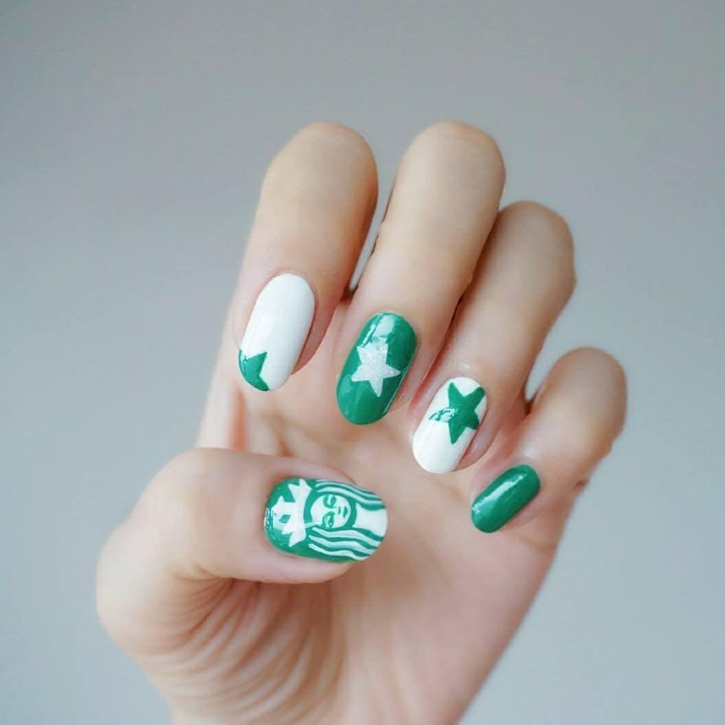 Starbucks Nail Art Popsugar Beauty