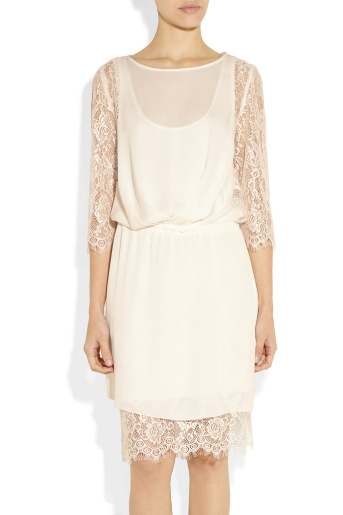 The By Malene Birger Siamue Lace and Silk Dress ($615) is everything a bohemian bride-to-be would want in a rehearsal dinner dress. It's not as traditional, it's loose-fitting but not sloppy-looking, and the layers of lace look so beautiful.