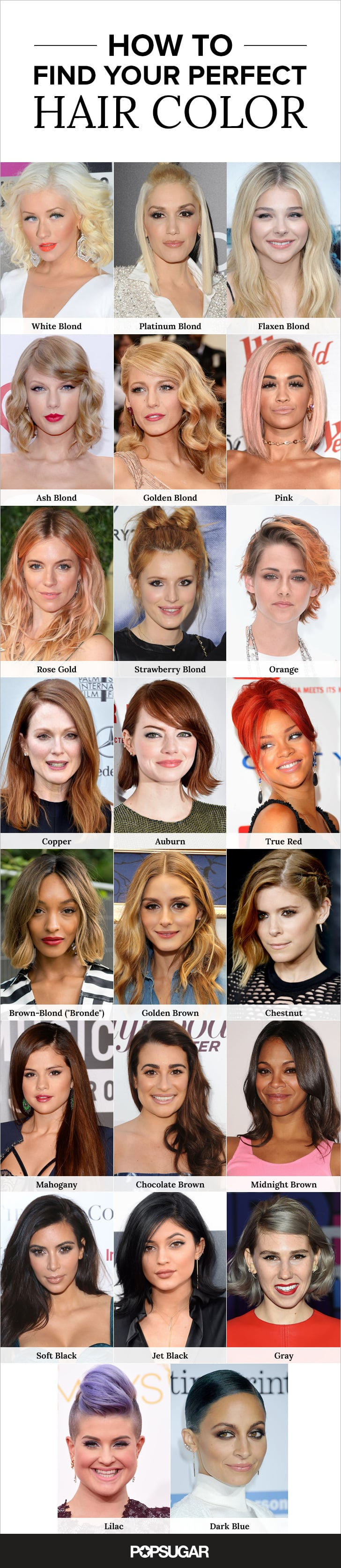 Pin It! | Hair-Color Guide