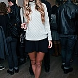 Harley Viera-Newton bundled up with Vince at the label's SoHo boutique opening.