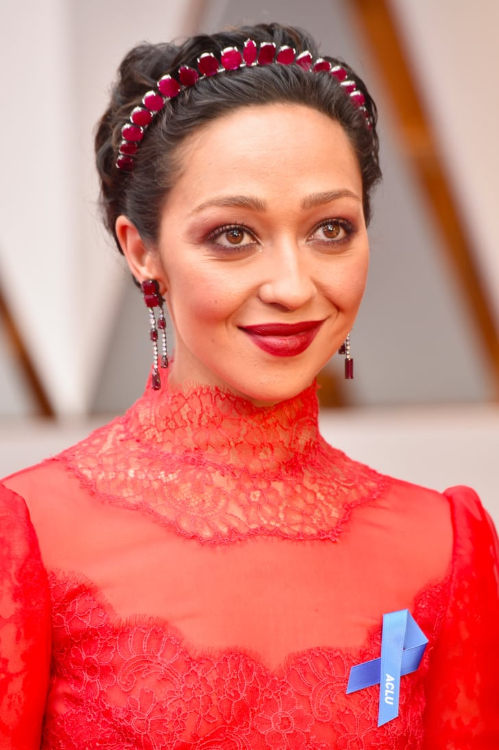 Ruth Negga S Hair And Makeup At The 2017 Oscars Popsugar