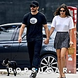 Jake Gyllenhaal and Alyssa Miller walked her dog Charlie in NYC.