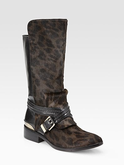 Doville Leather and Calf-Hair Mid-Calf Boots ($600)
