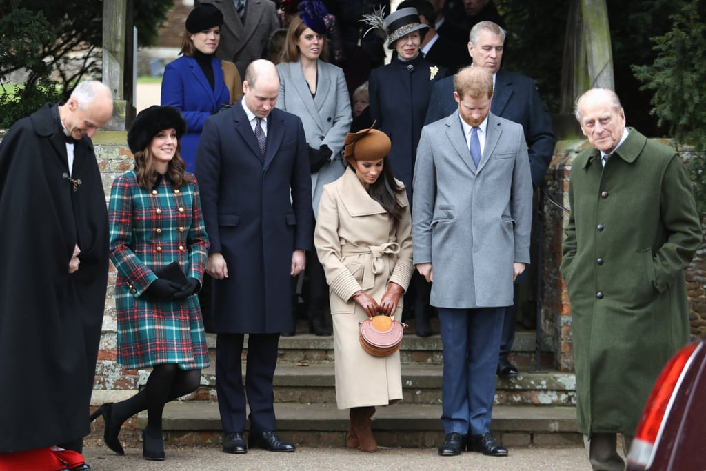 Meghan and Eugenie both attended Christmas Day services at Sandringham in 2017 but weren't photographed chatting.