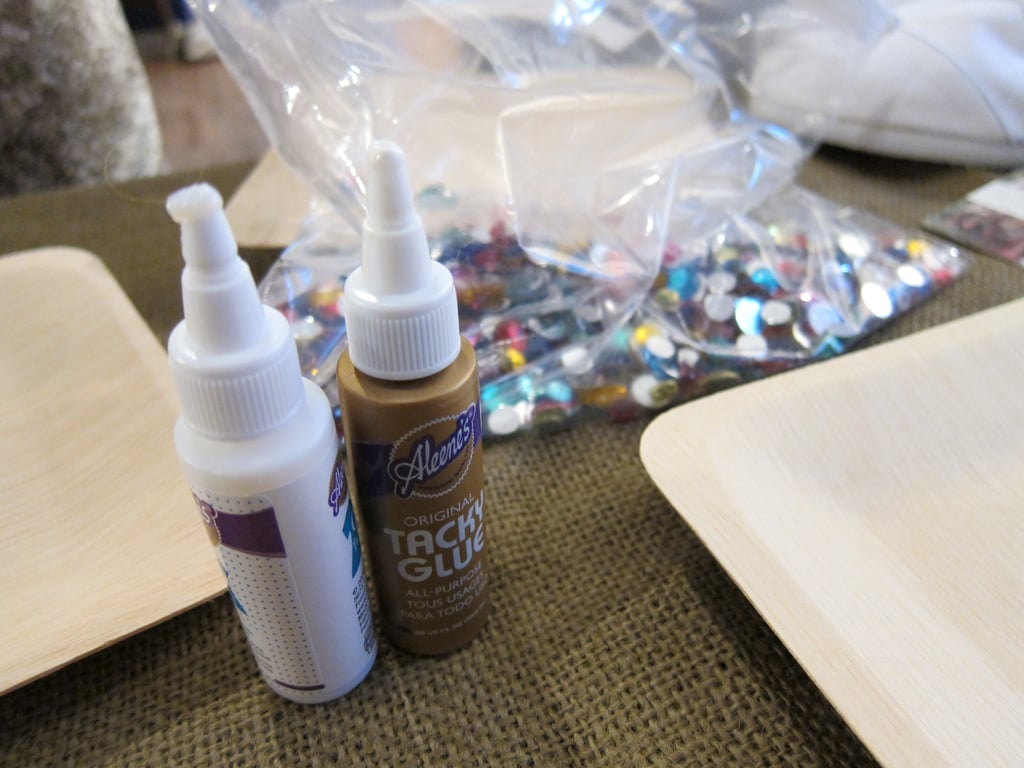 To embellish your shoe, make sure you have tacky glue handy.  3-in-1 Advanced Craft Glue ($4)
