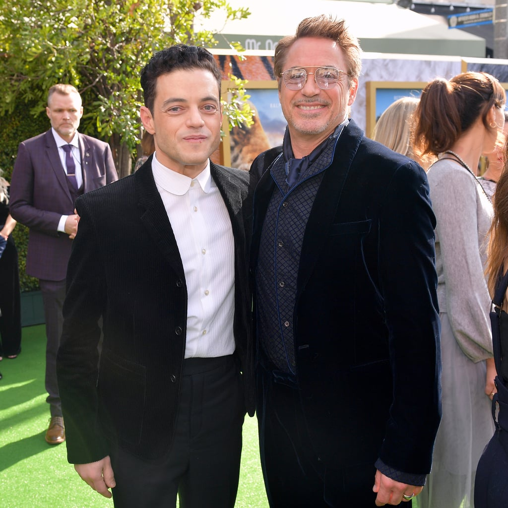 Rami Malek and Robert Downey Jr. at the Dolittle Premiere in LA