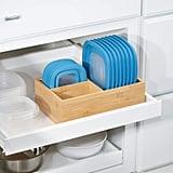 mDesign Bamboo Wood Kitchen Storage Bin Organizer