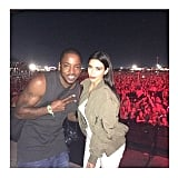 Kim took a snap with Ricky Anderson, Kanye's cousin.  Source: Instagram user kimkardashian