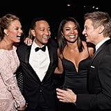 Chrissy Teigen, John Legend, Gabrielle Union, and Jeremy Renner shared a laugh at the InStyle event.